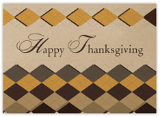 Diamond Patterned Thanksgiving