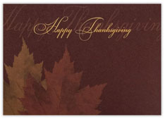 Dual Leaf Thanksgiving Card