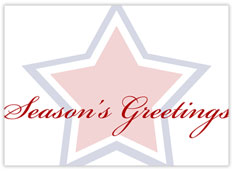 Outline Star Holiday Card