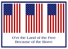 Free and Brave Patriotic Greeting Card