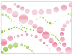 Green and Pink Dot Design