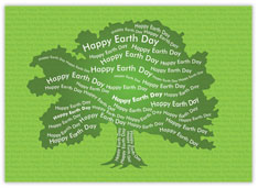 Earth Day Tree Recycled