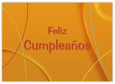 Orange Spanish Birthday
