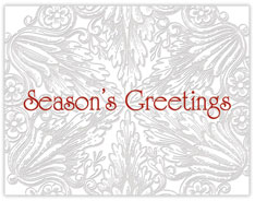 Elaborate Filigree Season's Greetings