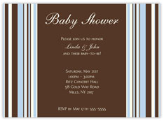 Elegant Blue Bars Invitation