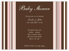 Elegant Pink Bars Baby Shower
