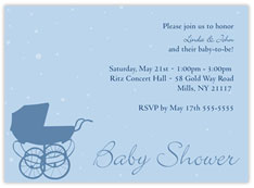 Baby Shower Boy Carriage