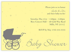 Baby Shower Girl Carriage