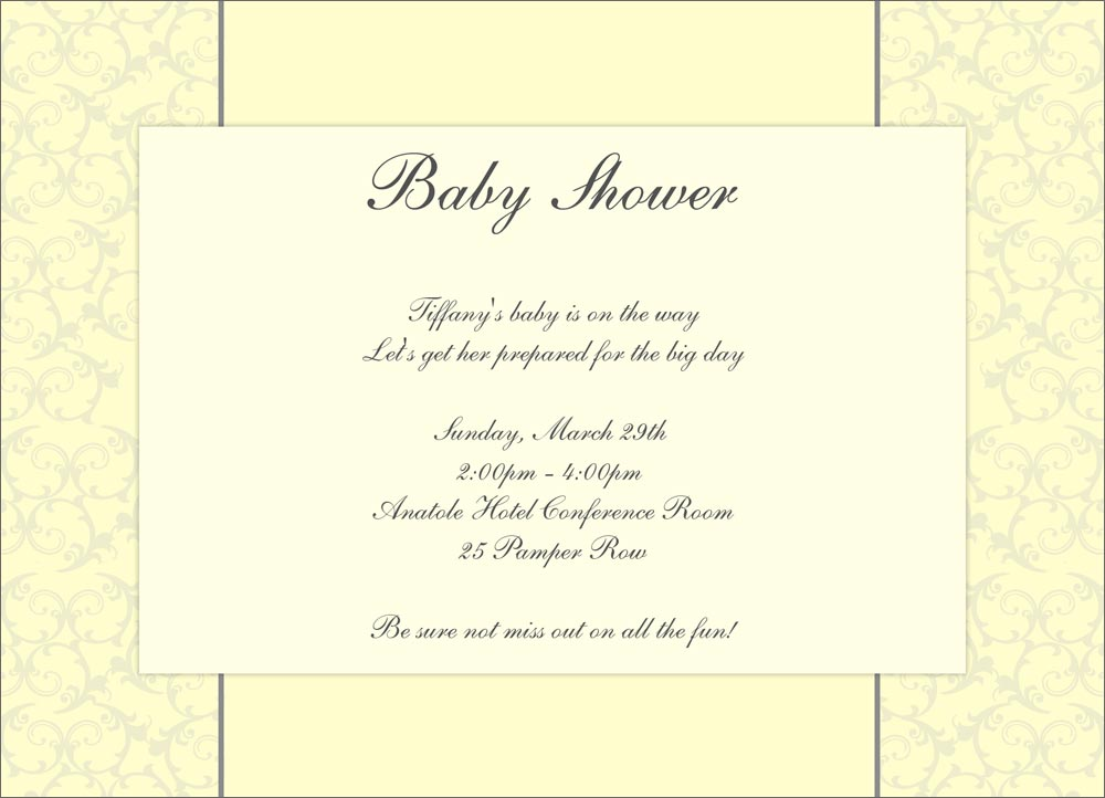 soft yellow elegant baby shower invitations from cardsdirect