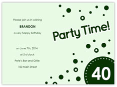 Party Time! Birthday Invitation