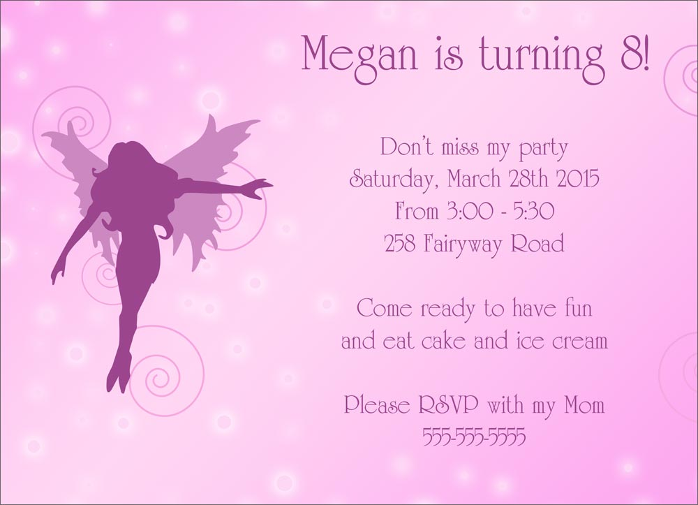 Fairy Birthday Invitations absolutely amazing ideas for your invitation example