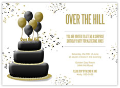 Over the Hill Cake Invitation