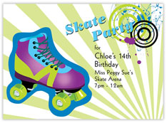 Skate Party Invitation
