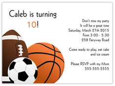 Sporty Birthday Invitation