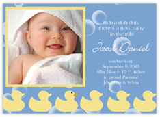 Rubber Ducky Birth Announcement
