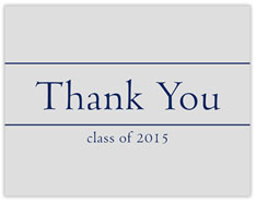 Classic Graduation Thanks