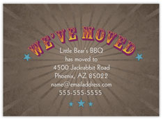 Western Stars Moving Card