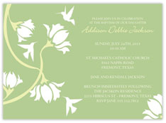 Flowered Baptism Invitation