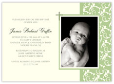 Green Filigree Baptism