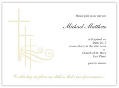 Simple Cross Baptism Invitation