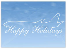 Airplane Sketch Holiday Card