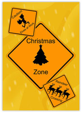 Christmas Road Signs
