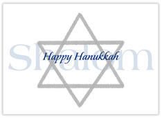 Shalom Happy Hanukkah Card