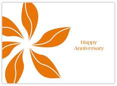 Orange Pinwheel Anniversary