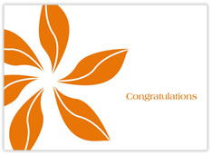 Orange Pinwheel Congrats
