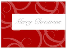 Pink & Red Christmas Card