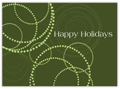 Modern Circles Holiday Card