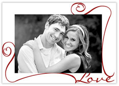 Love of Swirls Valentine's Card