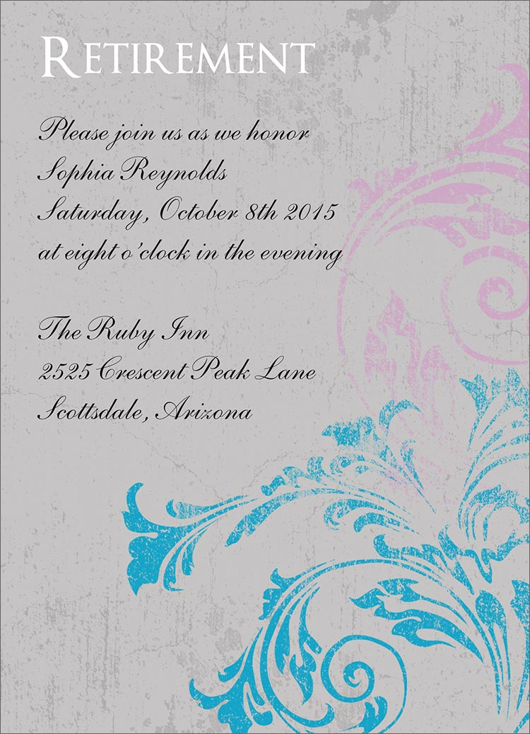 Related Pictures customize retirement party flyer