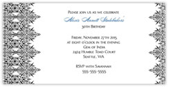 Black Intricate Invitation