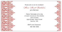Red Intricate Invitation