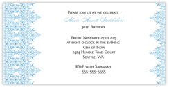 Blue Intricate Invitation