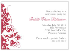 Red Blossoms Invitation