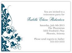 Blue Blossoms Invitation