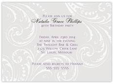 Gray Traditional Invitation