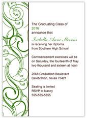 Green Border Graduation