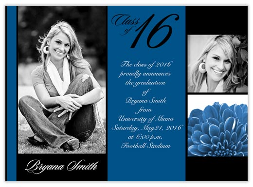 Water Center Text Graduation - Graduation Announcements from CardsDirect