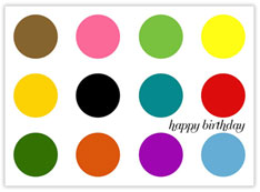 Mulitple Dots Birthday Card