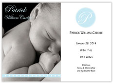 Precious Blue Birth Announcement