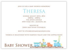 Animal Train Baby Shower