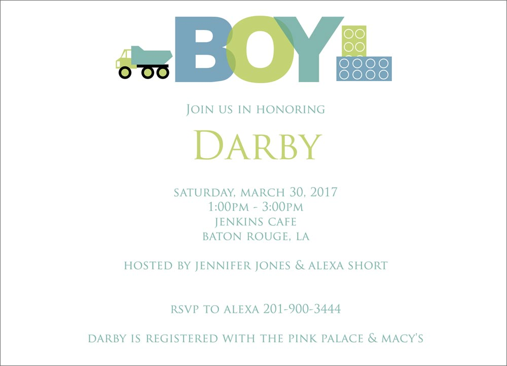 Baby Boy Elements  Baby Shower Invitations from CardsDirect