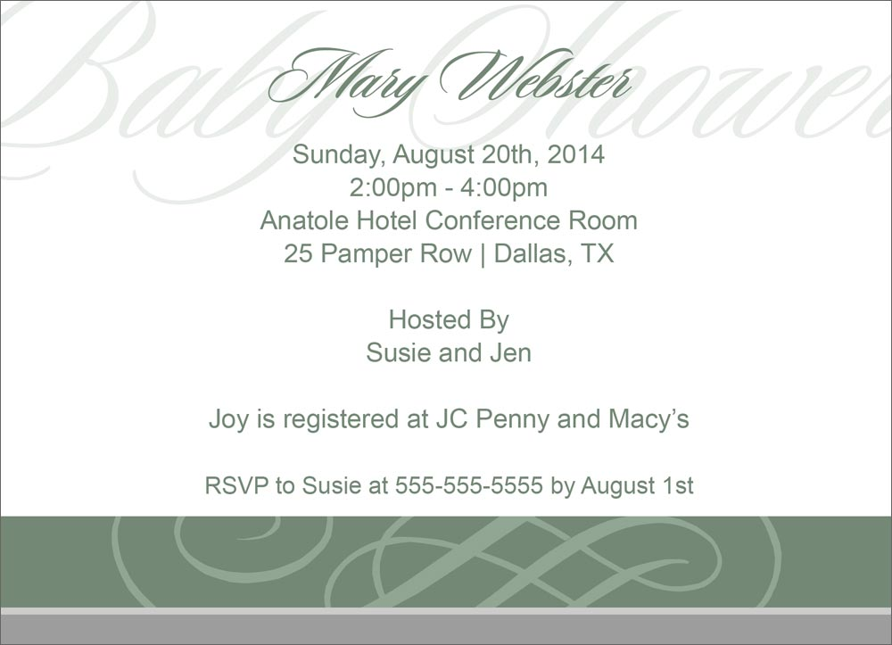 Scroll Baby Shower Invitations was very inspiring ideas you may choose for invitation ideas