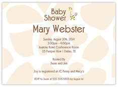 Giraffe Background Baby Shower