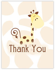 Cute Giraffe Thank You