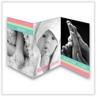 Sunny Stripes Tri-Fold Card
