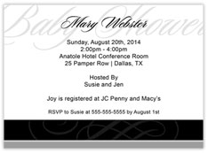 Elegant Opaque Scroll Invitation